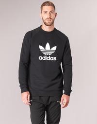 Îmbracaminte Bărbați Hanorace  adidas Originals TREFOIL CREW Negru