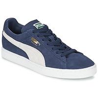 Încăltăminte Pantofi sport Casual Puma SUEDE CLASSIC + Albastru / Alb