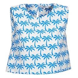 Îmbracaminte Femei Maiouri și Tricouri fără mânecă Suncoo LANA Alb / Albastru