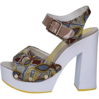 Pantofi Femei Sandale  Suky Brand sandali beige tessuto vernice AB308 beige