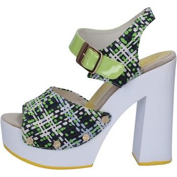Pantofi Femei Sandale  Suky Brand sandali verde tessuto vernice AB309 Verde