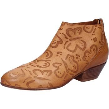 Pantofi Femei Botine Moma stivaletti marrone pelle AB350 Marrone