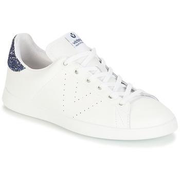 Pantofi Fete Pantofi sport Casual Victoria DEPORTIVO BASKET PIEL Alb / Albastru