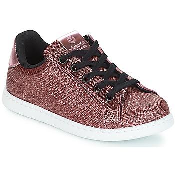 Pantofi Fete Pantofi sport Casual Victoria DEPORTIVO METAL CREMALLERA Roz