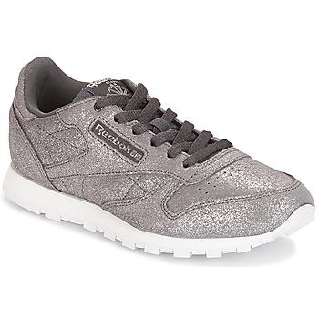 Încăltăminte Fete Pantofi sport Casual Reebok Classic CLASSIC LEATHER J Gri /  metalic