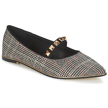 Pantofi Femei Balerin și Balerini cu curea Menbur DOUMIER Negru / Roșu