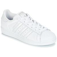 Încăltăminte Femei Pantofi sport Casual adidas Originals SUPERSTAR W Alb / Argintiu
