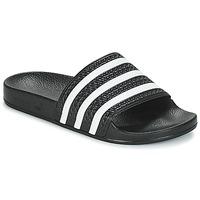 Pantofi Șlapi adidas Originals ADILETTE Negru / Alb