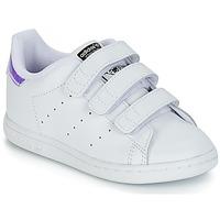 Pantofi Fete Pantofi sport Casual adidas Originals STAN SMITH CF I Alb / Argintiu