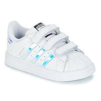 Încăltăminte Fete Pantofi sport Casual adidas Originals SUPERSTAR CF I Alb / Argintiu