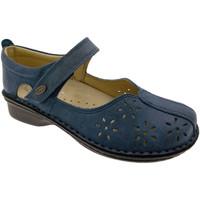 Pantofi Femei Balerin și Balerini cu curea Calzaturificio Loren LOM2313bl blu