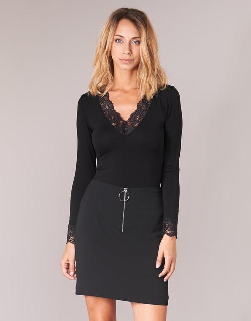 Îmbracaminte Femei Tricouri cu mânecă lungă  Morgan TRACY Negru
