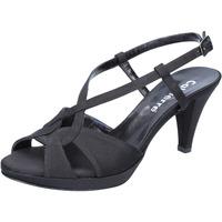 Pantofi Femei Sandale  Calpierre sandali nero raso BZ739 Nero