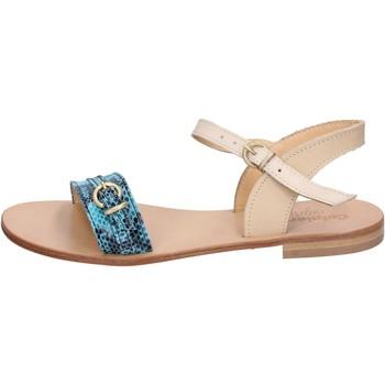 Pantofi Femei Sandale  Calpierre sandali verde pelle marrone BZ837 Multicolore