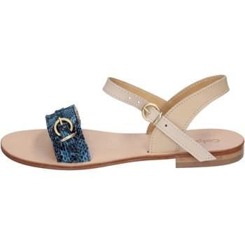 Pantofi Femei Sandale  Calpierre sandali blu pelle BZ838 Blu