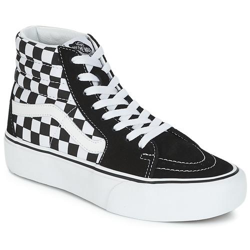 Pantofi Femei Pantofi sport stil gheata Vans SK8-HI PLATFORM 2.1 Negru / Alb