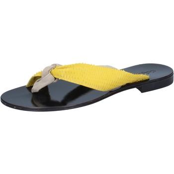 Pantofi Femei Sandale  Calpierre sandali beige camoscio giallo pelle BZ869 Beige