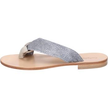 Pantofi Femei Sandale  Calpierre sandali grigio camoscio beige tessuto BZ880 Multicolore