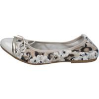Pantofi Femei Balerin și Balerini cu curea Crown Pantofi De Balerină BZ939 Bej