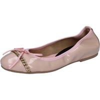 Pantofi Femei Balerin și Balerini cu curea Crown Pantofi De Balerină BZ941 Roz
