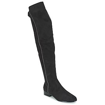 Pantofi Femei Cizme lungi peste genunchi Moony Mood JESSICA Negru