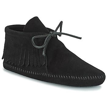 Pantofi Femei Ghete Minnetonka CLASSIC FRINGE Negru