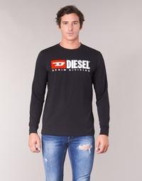 Îmbracaminte Bărbați Tricouri cu mânecă lungă  Diesel T JUST LS DIVISION Negru