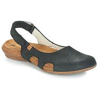 Pantofi Femei Sandale și Sandale cu talpă  joasă El Naturalista WAKATAUA Negru