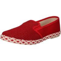 Pantofi Bărbați Pantofi Slip on Caffenero slip on rosso tela AE159 Rosso