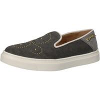 Pantofi Femei Pantofi Slip on Braccialini slip on grigio tessuto borchie AE545 Grigio