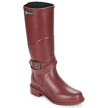 Încăltăminte Femei Cizme de ploaie Aigle MACADAMES Roșu-bordeaux