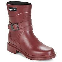 Pantofi Femei Cizme de ploaie Aigle MACADAMES MID Roșu-bordeaux