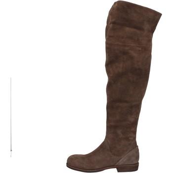 Pantofi Femei Cizme lungi peste genunchi Vic AE871 Maro