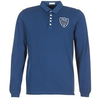 Îmbracaminte Bărbați Tricou Polo manecă lungă Serge Blanco POLO France Albastru
