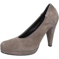 Pantofi Femei Pantofi cu toc Calpierre decolte beige camoscio AJ405 Beige