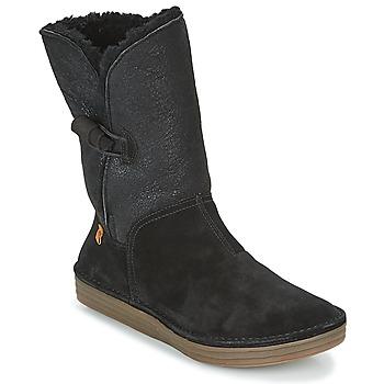 Pantofi Femei Cizme casual El Naturalista RICE FIELD Black