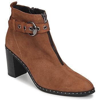 Pantofi Femei Botine Philippe Morvan AXEL V4 CHEV VEL Camel