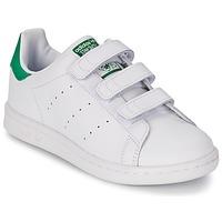 Încăltăminte Copii Pantofi sport Casual adidas Originals STAN SMITH CF C Alb / Verde