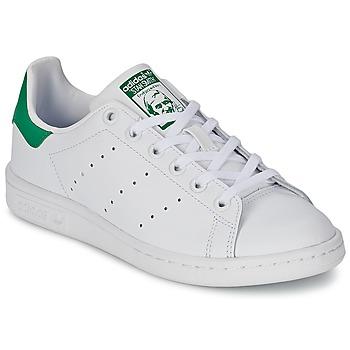 Încăltăminte Copii Pantofi sport Casual adidas Originals STAN SMITH J Alb / Verde