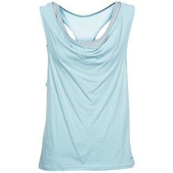 Îmbracaminte Femei Maiouri și Tricouri fără mânecă Bench SKINNIE Albastru