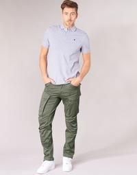 Îmbracaminte Bărbați Pantaloni Cargo G-Star Raw ROVIC ZIP 3D STRAIGHT TAPERED Gri / Verde