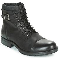 Pantofi Bărbați Ghete Jack & Jones ALBANY LEATHER Negru
