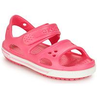 Încăltăminte Fete Sandale și Sandale cu talpă  joasă Crocs CROCBAND II SANDAL PS Roz
