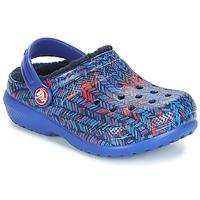 Pantofi Copii Saboti Crocs CLASSIC LINED GRAPHIC CLOG K Albastru