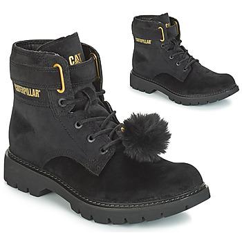 Pantofi Femei Botine Caterpillar CONVERSION VELVET Black