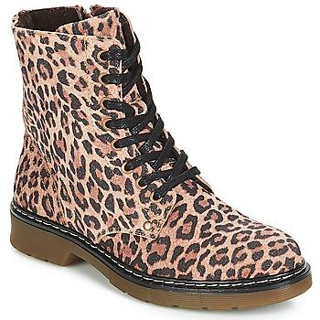 Pantofi Fete Ghete Bullboxer LANA Leopard