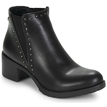 Pantofi Femei Botine LPB Shoes LAURA Negru