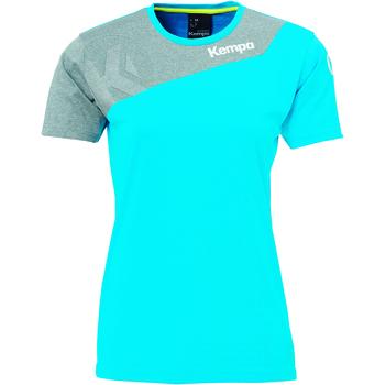 Îmbracaminte Femei Tricouri mânecă scurtă Kempa Maillot femme  Core 2.0 bleu flash/gris