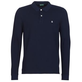 Îmbracaminte Bărbați Tricou Polo manecă lungă Benetton MAZARRI Bleumarin
