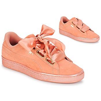 Încăltăminte Femei Pantofi sport Casual Puma WN SUEDE HEART SATIN.DUSTY Portocaliu
